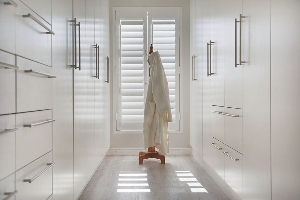 dressing room with security shutters