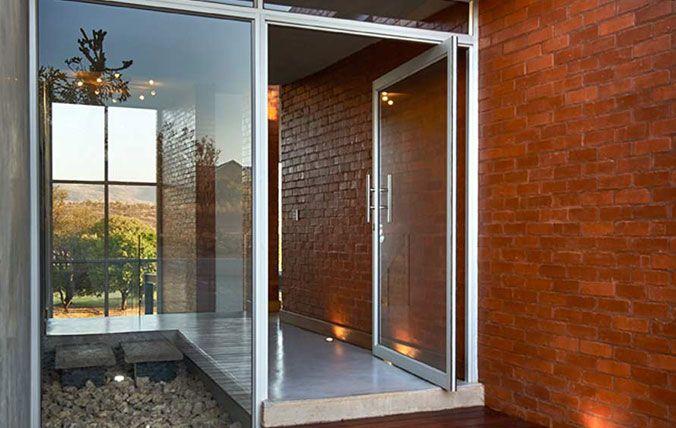 entrance pivot doors