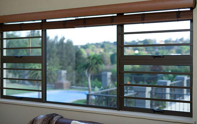 windows with stell flat burglar bars