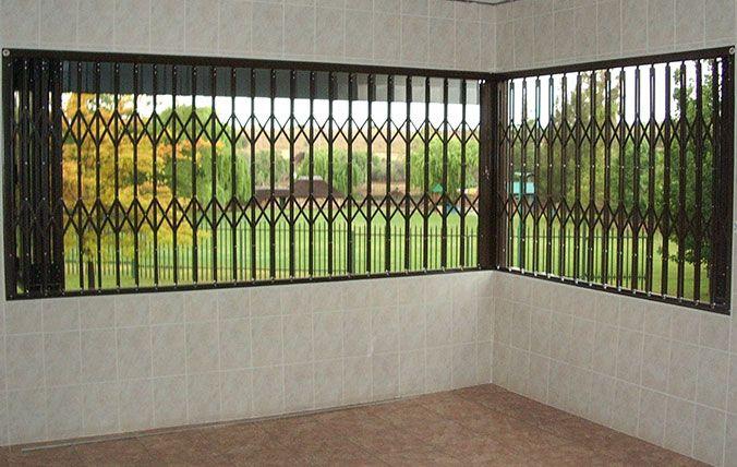 windows with security window sliding bars