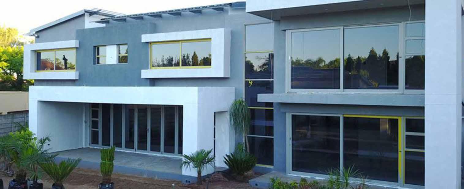 building with aluminium doors & windows