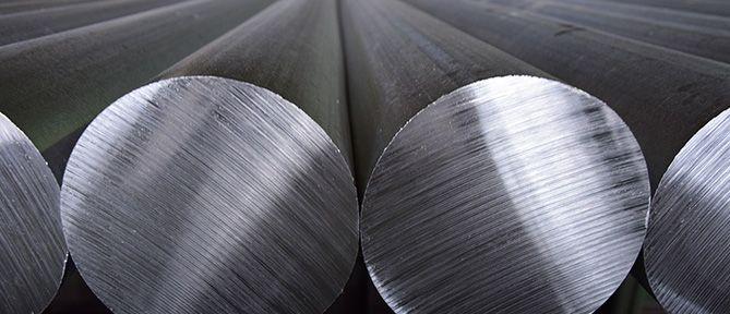 aluminium bars up close
