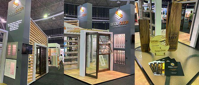 sequ-door products display booth