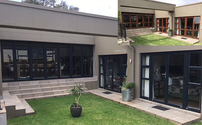 aluminium glass door installation before and after